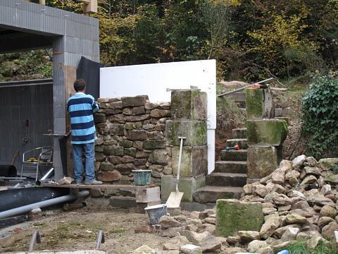 Chateau de digoine eerste ramen in het jachthondenhuis for Trap bouwen